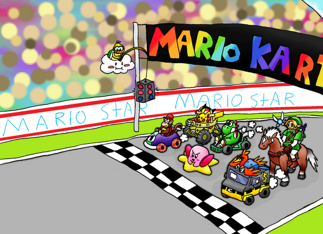 File:N64 Mega Mario Kart Race by charizardLv100.png