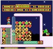 Yoshis cookie SNES super nintendo puzzle game