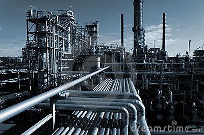 Indstria-petroleira-na-noite-9030144