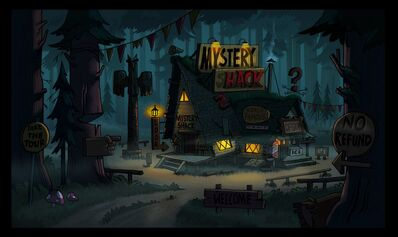 Mystery shack paint test