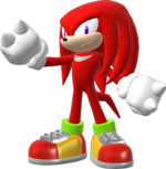 Knuckles trophy pose (Super Smash Bros. Wii U)