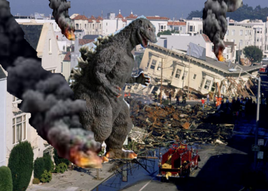 Godzilla 1954 in San Francisco