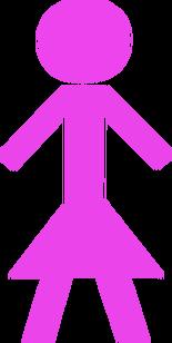 Light-purple-stick-woman-hi