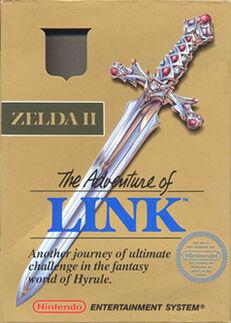 Zelda II The Adventure of Link box