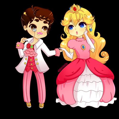 Princess peach and prince markiplier by nursepanty-d7vo4bg (1)