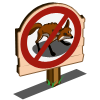 No Fox Sign-icon