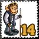 Pool Monkey Stamp-icon
