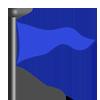 Blue Flag-icon