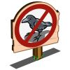 No Crows Sign-icon