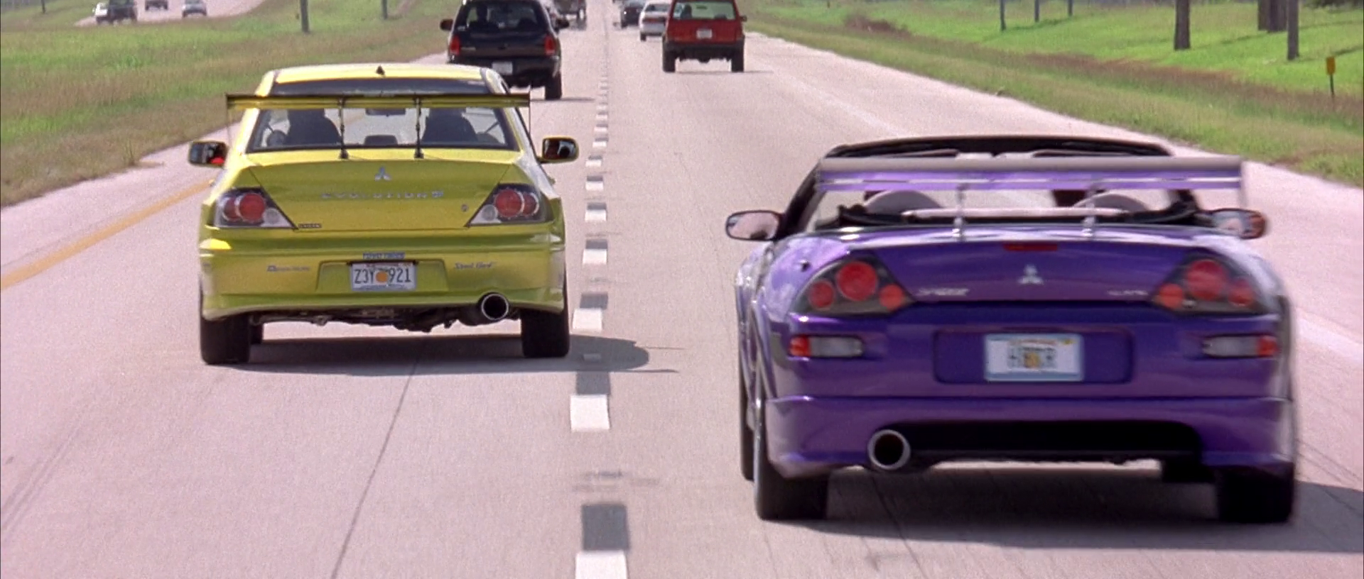 Image - Lancer EVO & Eclipse Spyder - On the Move (2).png | The Fast and the Furious Wiki ...