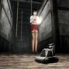 Miku finds the camera in <i>Fatal Frame III</i>