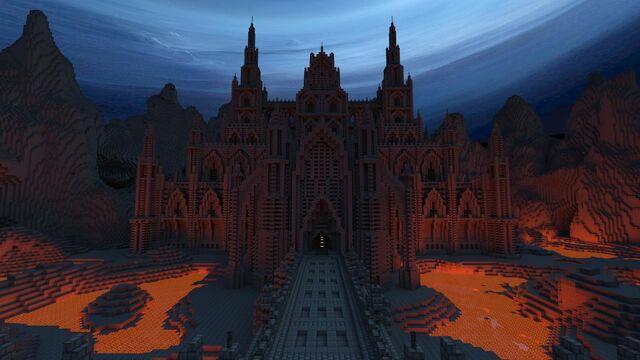 File:Dark Gothic Minecraft Castle.jpg