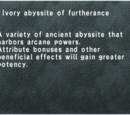 Ivory Abyssite of Furtherance