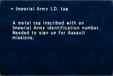 Imperial Army ID Tag