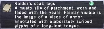 Raider's seal legs