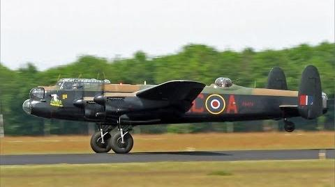 AVRO Lancaster, BBMF, Nice Departure at Eindhoven