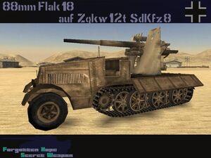 88mm Flak 18 auf Zgkw 12t sdkfz 8