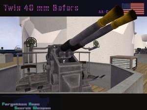 Twin 40 mm Bofors