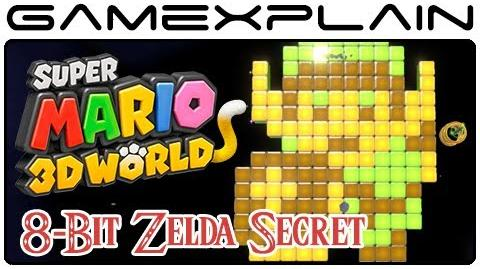 8-Bit Zelda Secret in Super Mario 3D World (Link Easter Egg)