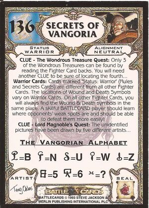 136 Secrets of Vangoria US back