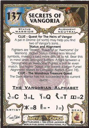 137 Secrets of Vangoria US back