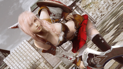 LRFFXIII Miqo'te Outfit Costume Victory Pose