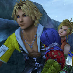 Tidus and Rikku on their way to Macalania Temple.