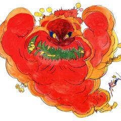 <i>Final Fantasy IV</i> Yoshitaka Amano artwork of the Mom Bomb.