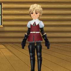 An avatar dressed as <a href=