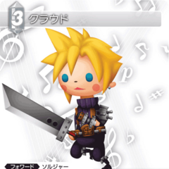 Trading card depicting Cloud's <i>Theatrhythm</i> art.
