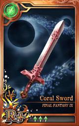 FF9 Coral Sword R+ Artniks