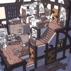 Concept artwork of Treno's pub.