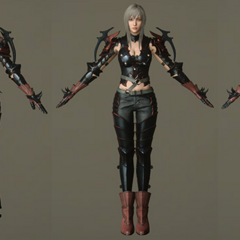 Character model without the helmet.