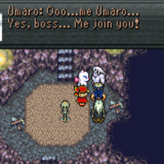 Umaro joins the party (GBA).