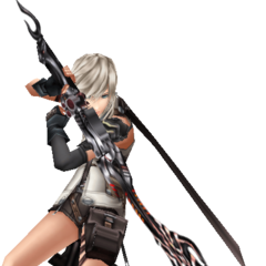 Alt outfit EX Mode from <i>Dissidia 012</i>.