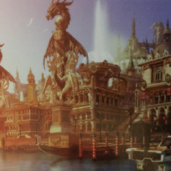Concept artwork of Altissia with Leviathan statues.