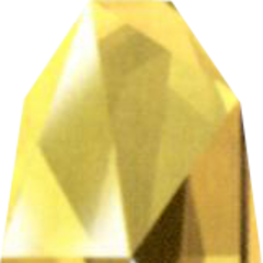 Yellow Huge Materia as depicted in the <i>Final Fantasy VII Ultimania Omega</i>.