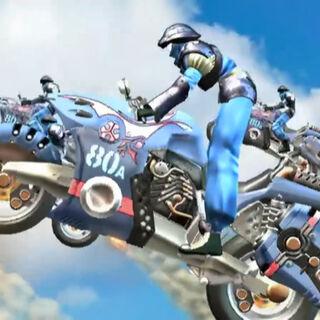 Motorbikers attack Balamb Garden.