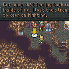 Terra losing her strength to fight (GBA).