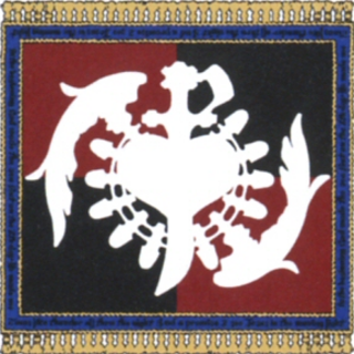 Concept art of the Tantalus emblem on a flag.