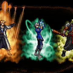 Seifer (Ultimate), Raijin (Ultimate) & Fujin (Ultimate).