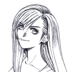 Tifa portrait sketch.
