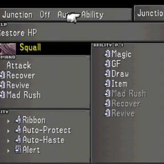 Junction Ability option.