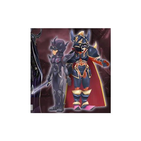 Golbez and Dark Knight Cecil's Virtual World avatars.