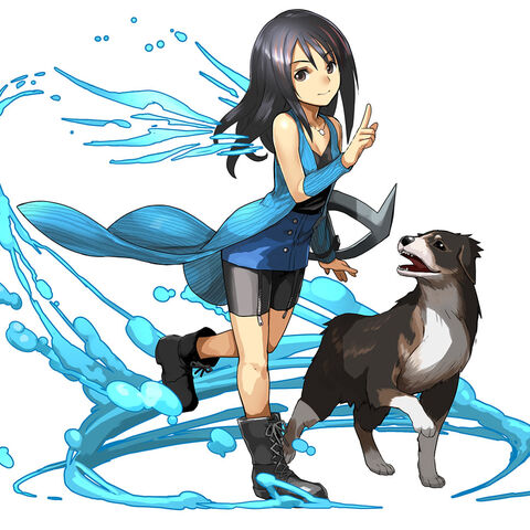 Rinoa and Angelo in <i>Puzzle and Dragons</i>.