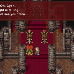 Cyan found the king dying.