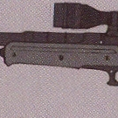 Concept art of the Sniper Rifle.