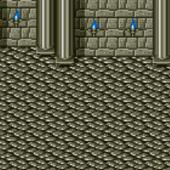 Battle Background in the Castle (SNES).
