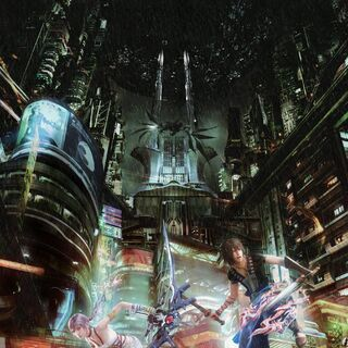 A promotional poster of the image featured in Final Fantasy XIII-2 Battle Ultimania.