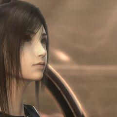 Tifa aboard the <i>Shera</i> in <i>Advent Children Complete</i>.